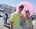 Glean Hausenfluke (a 19-year air race volunteer) and Lisa Stapleton at the Air Races at the Reno-Stead Airfield on Sunday, Sept. 20, 2015.