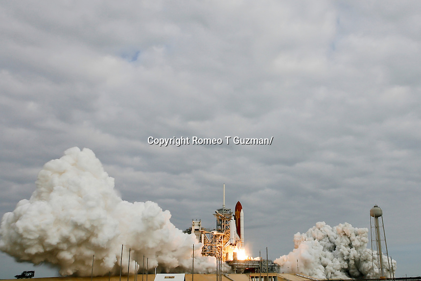 May 16, 2011: Space Shuttle Endeavour STS-134 lifts off from Pad 39A on its final mission to the International Space Station before retirement to the California Science Center.  The 16 day 6 person crew will be delivering the Alpha Magnetic Spectrometer and spare parts. Kennedy Space Center in Cape Canaveral, FL.