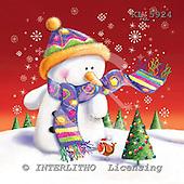 Interlitho, Simonetta, CHRISTMAS SANTA, SNOWMAN, paintings, snowman, shawl, KL5924,#x# Weihnachtsmänner, Schneemänner, Weihnachen, Papá Noel, muñecos de nieve, Navidad, illustrations, pinturas