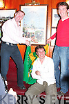 28. PICSTURES 5779- 5793..Jockeys Dave Casey left, and Norman Williamson, unveil a photo exhibition by Pat Healy centre at Mike The Pies Bar Listowel on Sunday evening..