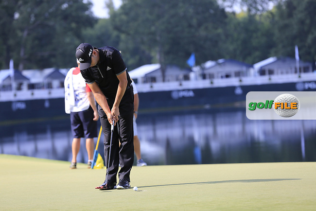 Sergio Garcia (ESP) putts on the 14th green during Thursday's Round 1 of the 2017 PGA Championship held at Quail Hollow Golf Club, Charlotte, North Carolina, USA. 10th August 2017.<br /> Picture: Eoin Clarke | Golffile<br /> <br /> <br /> All photos usage must carry mandatory copyright credit (&copy; Golffile | Eoin Clarke)