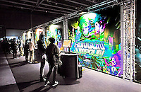 Nederland Utrecht  2016. Het Firstlook Festival. Op 7, 8 en 9 oktober opent de Jaarbeurs in Utrecht haar deuren voor de 9de editie van het grootste game-evenement van de Benelux: Firstlook Festival. Het is een festival met games, gadgets, hardware en comics.  Foto Berlinda van Dam / Hollandse Hooogte.