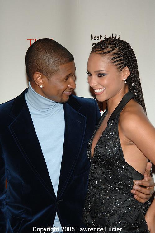Usher and Alicia Keys