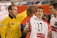 The New England Revolution defeated the Chicago Fire 1 to 0 in the MLS Eastern Conference Finals at Gillette Stadium, Foxbourgh, MA, on November 6, 2005.