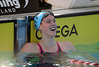 Vanessa Ouwehand reacts after winning the 200m Butterfly. Swimming New Zealand National Short Course Championships, National Aquatic Centre, New Zealand, Saturday 6th October 2018. Photo: Simon Watts/www.bwmedia.co.nz