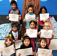 Photo Submitted<br /> Noel Primary School is excited to announce students presented with the Academic Accolades award for the week of Jan.14-18. They are (first, left), Kyleigh Collins, Erwin Manuel, and Evelyn Chavarria; (second, left), Seven Jimenez, Elisa Lopez Duentes, and Libberty Sideravage; (back, left), Peter Emos, Nicole Alejo-Gonzalez, and Shakira Masaou.