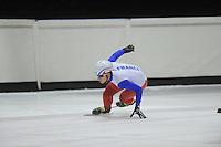 SCHORTTRACK: HEERENVEEN: IJSSTADION THIALF, 14-08-2013, training Franse shorttrackselectie, ©foto Martin de Jong