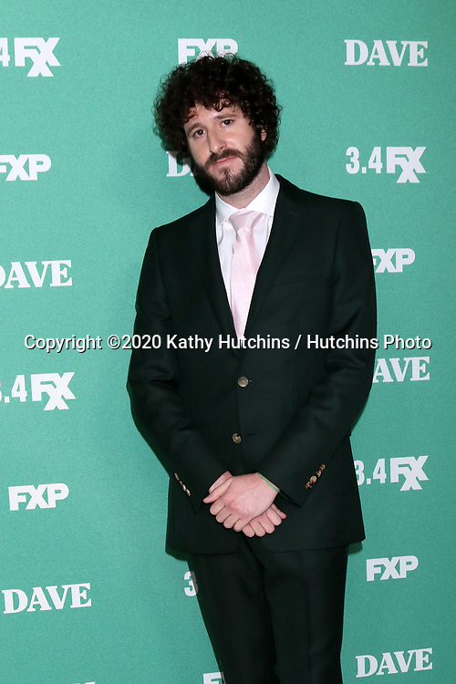 """LOS ANGELES - FEB 27:  Dave Burd at the """"Dave"""" Premiere Screening from FXX at the DGA Theater on February 27, 2020 in Los Angeles, CA"""