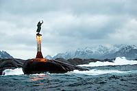 Fiskerkona, Svolvaer, Lofoten, Norway,