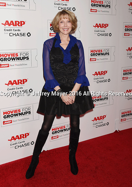 BEVERLY HILLS, CA - FEBRUARY 08: Actress Susan Blakely attends AARP's Movie For GrownUps Awards at the Regent Beverly Wilshire Four Seasons Hotel on February 8, 2016 in Beverly Hills, California.
