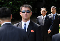 Kim Yong Chol ( 2-R) former North Korean military intelligence chief and one of leader Kim Jong Un's closest aides, departs the White House in Washington on Friday, June 1, 2018. <br /> CAP/MPI/RS<br /> &copy;RS/MPI/Capital Pictures