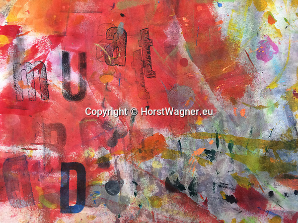 Germany, Buxtehude -- August 26, 2017 -- DECK 2, Pigments on Workbench, by various artists -- © HorstWagner.eu