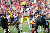 College Park, MD - October 15, 2016: Minnesota Golden Gophers quarterback Conor Rhoda (15) waits for the snap during game between Minnesota and Maryland at  Capital One Field at Maryland Stadium in College Park, MD.  (Photo by Elliott Brown/Media Images International)