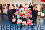 Shoeboxes for Team Hope were collected from Meanscoil Nua an Leith Triuigh on Friday morning. Pictured were: Aidan Dowd, Jason Browne, Cian Wall, Seamus Lyne, Aoife Naessens, Emma McKenna, Gearoid McCarthy, Tomás Fitzpatrick, Fionn O Cuileannáin and Adam Costello.