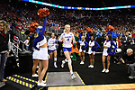 KANSAS CITY, MO - DECEMBER 16: Carli Snyder (4) of the University of Florida runs onto the court during the Division I Women's Volleyball Championship held at Sprint Center on December 16, 2017 in Kansas City, Missouri. (Photo by Jamie Schwaberow/NCAA Photos via Getty Images)