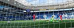 Christoph Baumgartner (Hoffenheim) trifft gegen Torwart Moritz Nicolas (Union Berlin).<br /> <br /> Sport: Fussball: 1. Bundesliga: Saison 19/20: 33. Spieltag: TSG 1899 Hoffenheim - 1. FC Union Berlin, 20.06.2020<br /> <br /> Foto: Markus Gilliar/GES/POOL/PIX-Sportfotos<br /> <br /> Foto © PIX-Sportfotos *** Foto ist honorarpflichtig! *** Auf Anfrage in hoeherer Qualitaet/Aufloesung. Belegexemplar erbeten. Veroeffentlichung ausschliesslich fuer journalistisch-publizistische Zwecke. For editorial use only. DFL regulations prohibit any use of photographs as image sequences and/or quasi-video.