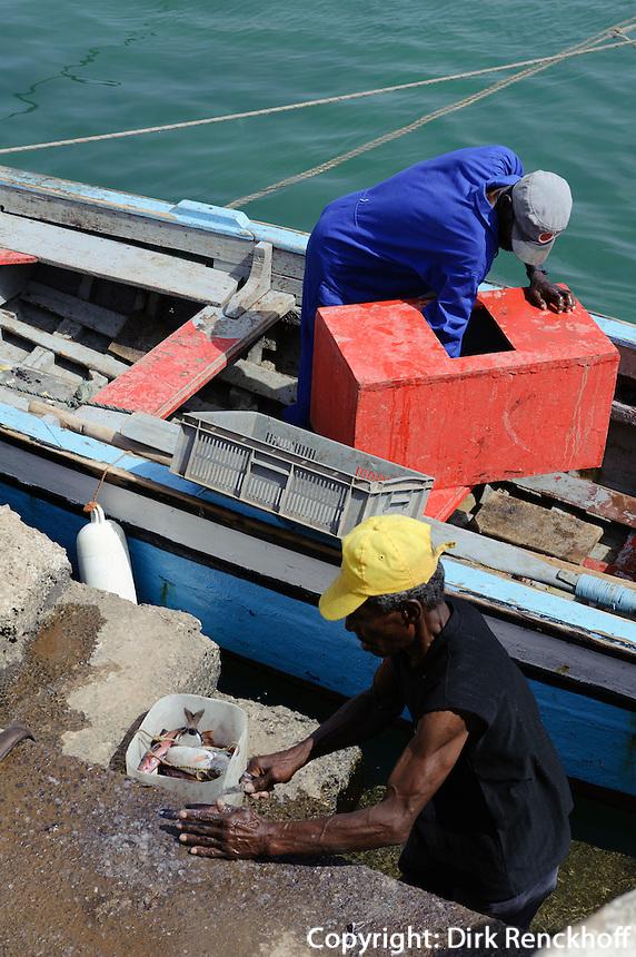 Hafen in Pedra de Lume, Sal, Kapverden, Afrika