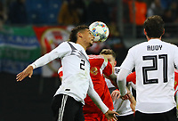 Kopfball Thilo Kehrer (Deutschland Germany) - 15.11.2018: Deutschland vs. Russland, Red Bull Arena Leipzig, Freundschaftsspiel DISCLAIMER: DFB regulations prohibit any use of photographs as image sequences and/or quasi-video.