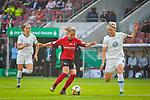 01.05.2019, RheinEnergie Stadion , Köln, GER, 1.FBL, Borussia Dortmund vs FC Schalke 04, DFB REGULATIONS PROHIBIT ANY USE OF PHOTOGRAPHS AS IMAGE SEQUENCES AND/OR QUASI-VIDEO<br /> <br /> im Bild | picture shows:<br /> Klara Buehl (SC Freiburg Frauen #21) setzt sich gegen Nilla Fischer (VfL Wolfsburg #4) durch, <br /> <br /> Foto © nordphoto / Rauch