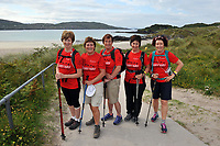 8-7-2017: Breda Heffernan, Douglas, Betty Hankard, Ballyphehane, Carrie Jeffers, Cork, Carmel O'Reilly, Cork and Barbara O'Callaghan, Carrigaline pictured walking on Derrynane Strand in County Kerry on Saturday in the Kerry Way Walk in aid of Breakthrough Cancer Research. The three day charity walk around South Kerry attracts walkers from all over Ireland and has raised over &euro;670,000 in its 14 year history.<br /> Photo Don MacMonagle<br /> <br /> Repro free photo breakthrough cancer research