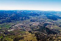 aerial photograph of Healdsburg, Sonoma County, California