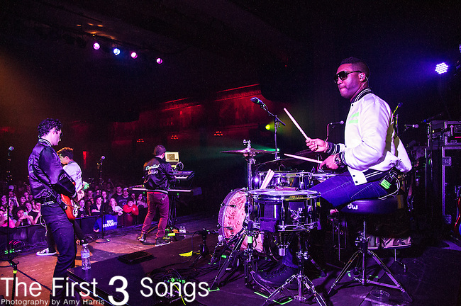 Channing Holmes of Capital Cities performs at Old National Centre in Indianapolis, Indiana.