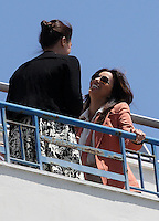 Eva Longoria seen on the roof of the Martinez Hotel attending a photo shoots on May 17, 2012 in Cannes, France.  .. Credit: MediaPunch Inc. ***FOR USA ONLY***