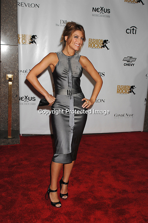 Jennifer Esposito in J Mendel dress..arriving for The Fourth Annual Fashion Rocks concert presented by Conde Nast Media Group on ..September 6, 2007 at Radio City Music Hall. ..Photo by Robin Platzer, Twin Images....212-935-0770