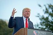 Donald Trump, a candidate for the 2016 Republican nomination for President of the United States, makes remarks as he appears at a rally against the Iran Nuclear Deal on the West Lawn of the US Capitol in Washington, DC on Wednesday, September 9, 2015.<br /> Credit: Ron Sachs / CNP<br /> (RESTRICTION: NO New York or New Jersey Newspapers or newspapers within a 75 mile radius of New York City)