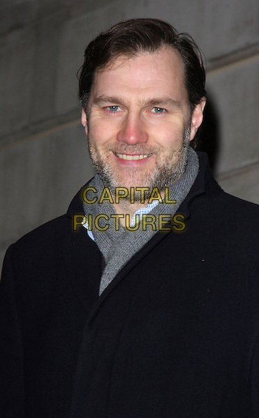 "DAVID MORRISSEY.""In Bed With..."" Book Launch Party at Artesium at the Langham Hotel, London, England, February 11th 2009..portrait headshot beard stubble grey gray scarf.CAP/ROS.©Steve Ross/Capital Pictures"