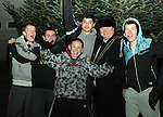Mayor Paul Bell with Josh Hynes, Ross Gildea, Ciaran McGlone, Ismail Abukladir and Conor Campbell at the Lighting of the Christmas Lights, Drogheda...(Photo credit should read Jenny Matthews www.newsfile.ie)....This Picture has been sent you under the conditions enclosed by:.Newsfile Ltd..The Studio,.Millmount Abbey,.Drogheda,.Co Meath..Ireland..Tel: +353(0)41-9871240.Fax: +353(0)41-9871260.GSM: +353(0)86-2500958.email: pictures@newsfile.ie.www.newsfile.ie.
