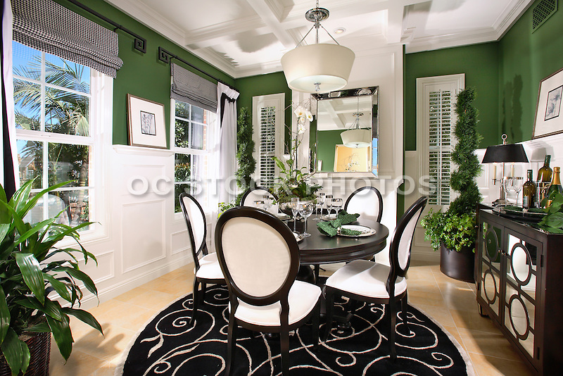 Model Home Dining Rooms interior decorated model home dining room with wainscoting