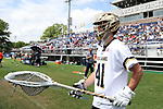 DURHAM, NC - APRIL 30: Notre Dame's Shane Doss. The University of North Carolina Tar Heels played the University of Notre Dame Fighting Irish on April 30, 2017, at Koskinen Stadium in Durham, NC in a 2017 ACC Men's Lacrosse Tournament Championship match. UNC won the game 14-10.