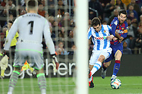 7th March 2020; Camp Nou, Barcelona, Catalonia, Spain; La Liga Football, Barcelona versus Real Sociedad;  Leo Messi finds himself eased off the ball by Monreal of Real in the box