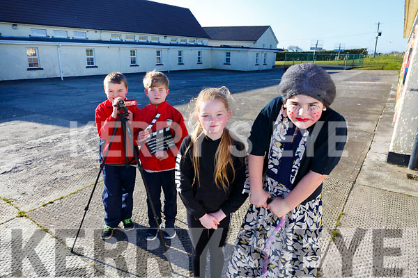 Bouleenshere National School students who won an award in the Donal Walsh Foundation for a video called &ldquo;Hold my Hand&rdquo;.    <br /> Front l to r: Shannon Drury, Max Fitzgerald (Granny) with Luke Boyle, on camera and Kallum Hussey who was production manager.