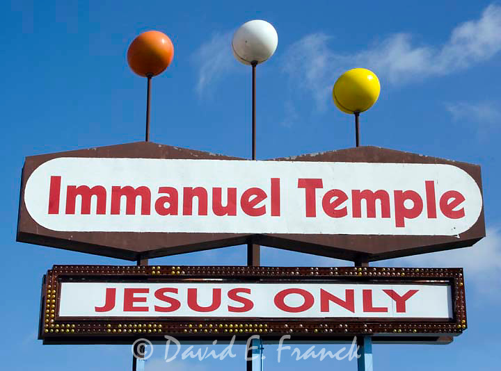 Thd Immanuel Temple Jesus Only sign in Lincoln, Nebraska.