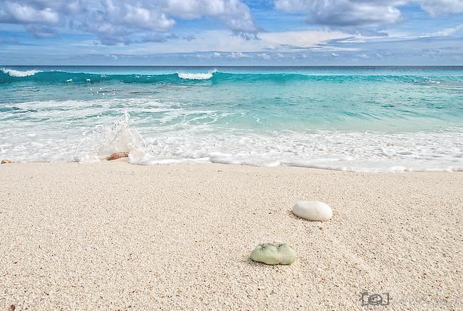A perfect beach on the remote island of Kiritimati in Kiribati