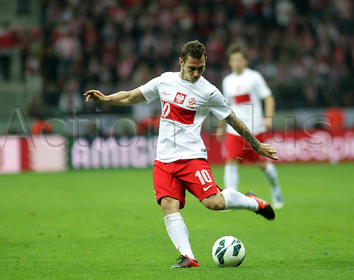 17.10.2012, Warsaw, Poland. World Cup 2014 group stages. Poland versus England. LUDOVIC OBRANIAK (POL)