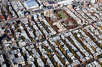 Aerial view of Brooklyn, New York, New York.