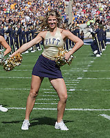 A member of the Pitt dance team performs before the game. The Pitt Panthers defeated the Virginia Tech Hokies 35-17 at Heinz field in Pittsburgh, PA on September 15, 2012.