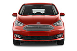 Car photography straight front view of a 2015 Ford C Max Titanium 5 Door Mini Mpv Front View