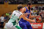 Basketball Champions League 2017/18 - Previus.<br /> Divina Seguros Joventut vs Dinamo Tbilisi: 86-66.<br /> Simon Birgander vs Kiel Turpin.