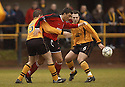07/01/2006         Copyright Pic: James Stewart.File Name : sct_jspa03_alloa_v_livingston.ROBERT SNODGRASS TRIES TO GET PAST FRASER FORREST AND PAUL MORTIMER....Payments to :.James Stewart Photo Agency 19 Carronlea Drive, Falkirk. FK2 8DN      Vat Reg No. 607 6932 25.Office     : +44 (0)1324 570906     .Mobile   : +44 (0)7721 416997.Fax         : +44 (0)1324 570906.E-mail  :  jim@jspa.co.uk.If you require further information then contact Jim Stewart on any of the numbers above.........