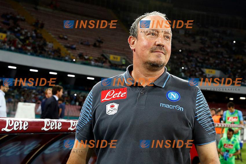 Rafael Benitez Napoli <br /> Napoli 02-08-2014 Stadio San Paolo <br /> Amichevole Calcio 2014/2015 Napoli - Paok Salonicco <br /> Foto Cesare Purini / Insidefoto