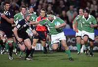 Ireland hooker Stephen Douglas charges into the Scottish defence during the Division A clash in the U19 World Championship at Ravenhill.