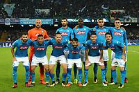 Formazione del  Napoli Line Ups Team <br /> Napoli 01-11-2017 Stadio San Paolo<br /> Football Calcio UEFA Champions League 2017/2018<br /> Napoli - Manchester City<br /> Group F<br /> Foto Cesare Purini / Insidefoto