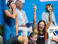 Yuliya Efimova RUS - Team RUS bronze medal<br /> Women's 4x100m medley relay final<br /> Swimming<br /> 15th FINA World Aquatics Championships<br /> Palau Sant Jordi, Barcelona (Spain) 04/08/2013 <br /> © Giorgio Perottino / Deepbluemedia.eu / Insidefoto