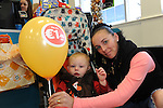 FREE PIC - NO REPRO FEE<br /> 24/09/2015 - Blackpool, Cork<br /> Mum Kim Green with her son Chantz, from Knocknaheeny, Cork at the official opening of the new Dealz store at Blackpool Retail Park, Cork.<br /> Pic: Brian Lougheed