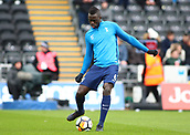 17th March 2018, Liberty Stadium, Swansea, Wales; FA Cup football, quarter-final, Swansea City versus Tottenham Hotspur; Davinson Sanchez of Tottenham Hotspur warms up before the game