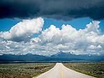 Montana highway 43, Anaconda Mountains, clouds, Big Hole Valley, Montana